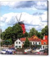 Windmill In Strangnas Sweden Canvas Print
