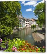 Strasbourg, Half-tmbered Houses, Petite France, Alsace, France Canvas Print