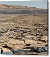 Stratified Rock On Mars Canvas Print