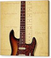 Stratocaster Illustration Canvas Print