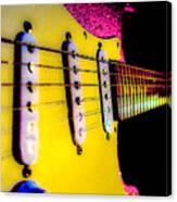 Stratocaster Pop Art Pink Fire Neck Series Canvas Print