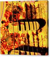 Stratocaster Strat Plus Lace Sensors Pop Art Canvas Print