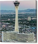 Stratosphere Casino Hotel And Tower Canvas Print