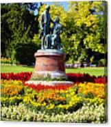 Strauss In Flowers Canvas Print