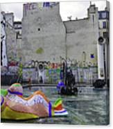 Stravinsky Fountain Near Centre Pompidou In Paris, France Canvas Print