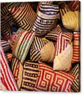 Straw Bags Oaxaca Mexico Canvas Print