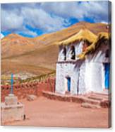 Straw Roof Machuca Church Canvas Print