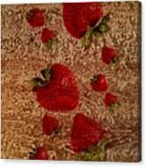 Strawberries And Stone Slab  Canvas Print
