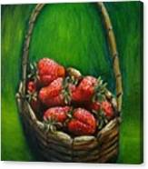 Strawberries Contemporary Oil Painting Canvas Print