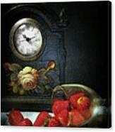 Strawberry Clock Canvas Print