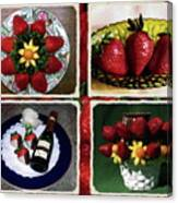 Strawberry Collage Canvas Print