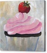 Strawberry Cupcake  Canvas Print