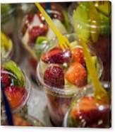 Strawberry Desert - La Bouqueria - Barcelona Spain  Canvas Print