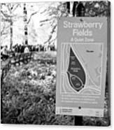 strawberry fields central park New York City USA Canvas Print