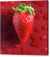 Strawberry Fresh One Canvas Print