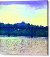 Strawberry Mansion Bridge Across The Schuylkill River Canvas Print