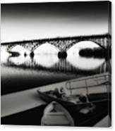 Strawberry Mansion Bridge In Winter Canvas Print