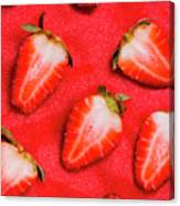 Strawberry Slice Food Still Life Canvas Print