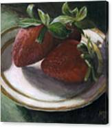 Strawberry Still Life Canvas Print