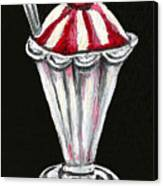 Strawberry Sundae Canvas Print
