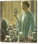 Strawberry Tea Set, 1912 Canvas Print