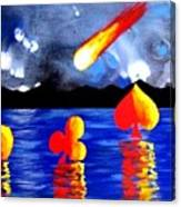 Streaking Comet Poker Art Canvas Print