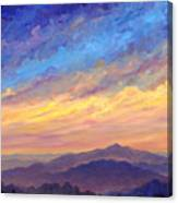 Streaking Sky Over Cold Mountain Canvas Print