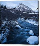 Mountain Stream In Twilight Canvas Print