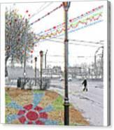 Street And Colors. Nizhny Novgorod, Sormovo. 3 May, 2015 Canvas Print
