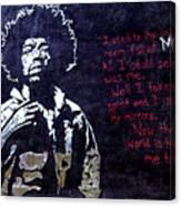 Street Art - Jimmy Hendrix Canvas Print