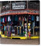 Street Commerce At Ataco Canvas Print