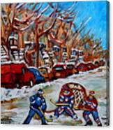Street Hockey Hotel De Ville Canvas Print