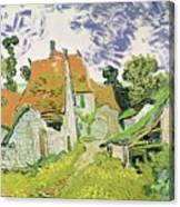 Street In Auvers Sur Oise Canvas Print