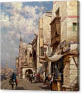 Street In Cairo Canvas Print