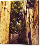 Street In Dubrovnik Old Town Canvas Print