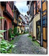 Street In Eguisheim, Alsace, France Canvas Print