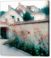 Street In Giverny, France Canvas Print