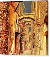 Street In Old Town. Canvas Print