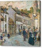 Street In Pont Aven Canvas Print