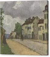 Street In Pontoise Strabe In Pontoise Camille Pissarro Canvas Print