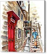 Street In Robin Hoods Bay 01 Canvas Print