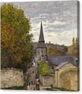 Street In Sainte Adresse Canvas Print