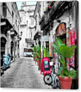 Street In Sicily Canvas Print