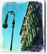 Street Lamp And Fire Escape Canvas Print