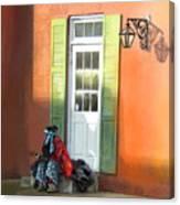 Street Life In Memphis Canvas Print