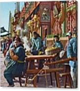 Street Life Of Peking, 1921 Canvas Print