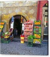 Street Market, Prague Canvas Print