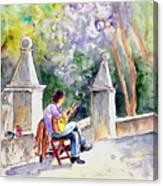 Street Musician In Pollenca Canvas Print