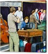 Street Musicians In Dublin Canvas Print