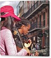 Street Musicians Canvas Print